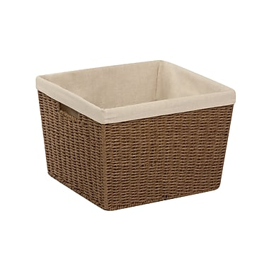 Honey Can Do Paper Rope Storage Tote with Liner, Brown (STO-03566)