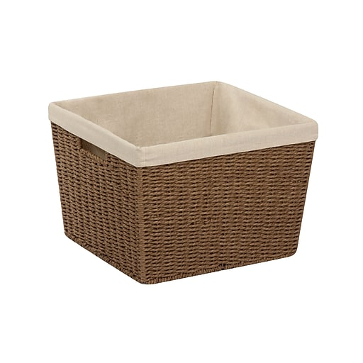 Honey Can Do Paper Rope Storage Tote with Liner Brown (STO-03566)