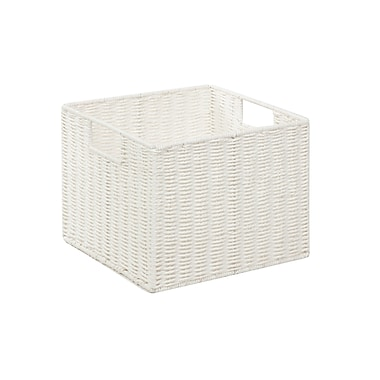 Honey Can Do Paper Rope Storage Crate, White (STO-03562)
