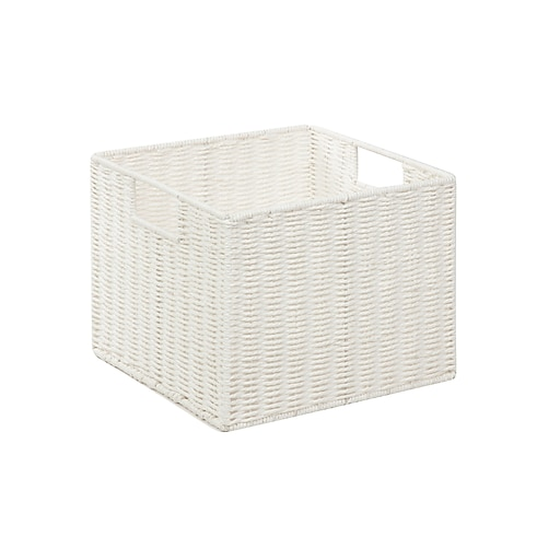 Honey Can Do Paper Rope Storage Crate White (STO-03562)