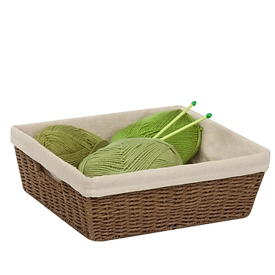 Honey Can Do Paper Rope Shelf Basket with Liner, Brown (STO-03564)