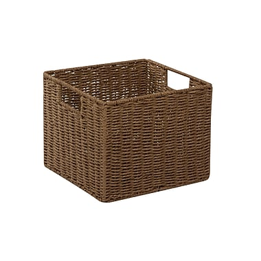 Honey Can Do Paper Rope Storage Crate, Brown (STO-03567)