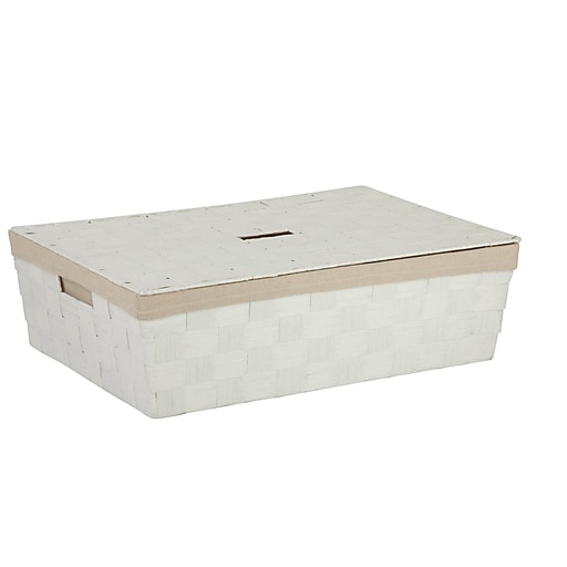 Honey Can Do Underbed Paper Rope Basket with Liner White (STO-03735)