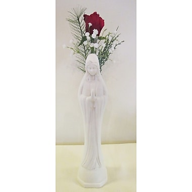 Silkmama Christmas Rose Bud in Madonna Vase