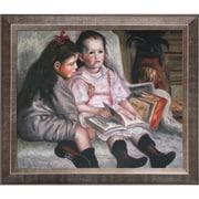 Tori Home Portrait of Children by Pierre-Auguste Renoir Framed Painting