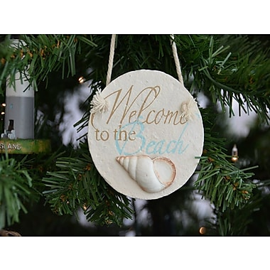Handcrafted Nautical Decor Welcome to the Beach Christmas Tree Shaped Ornament