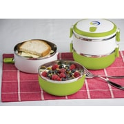 Modernhome Stainless Steel Lunch Box; Chartreuse Green