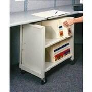 Datum Storage Mini Sloped-Shelf File Cart; Bone White