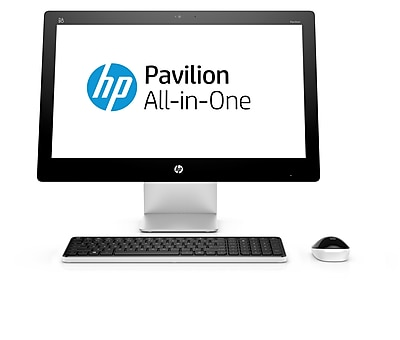 "HP Pavilion 23-Q120 23"" All-in-One Touch Desktop PC (Intel i3-4179T 3.2 GHz Processor, 1TB Hard Drive, 4GB RAM, Windows 10)"