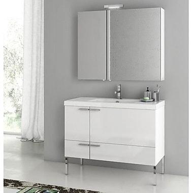 ACF New Space 39.2'' Single Bathroom Vanity Set; Larch Canapa