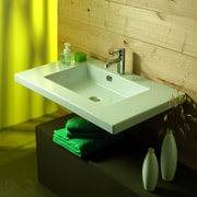 Ceramica Tecla Mars Ceramic Self Rimming Bathroom Sink; Single Hole