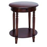 UMA Enterprises End Table I; Dark Wood