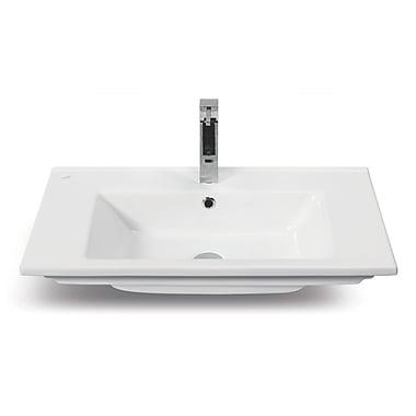 CeraStyle by Nameeks Arte Ceramic Rectangular Drop-In Bathroom Sink w/ Overflow