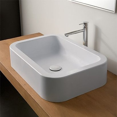 Scarabeo by Nameeks Next Ceramic Rectangular Vessel Bathroom Sink