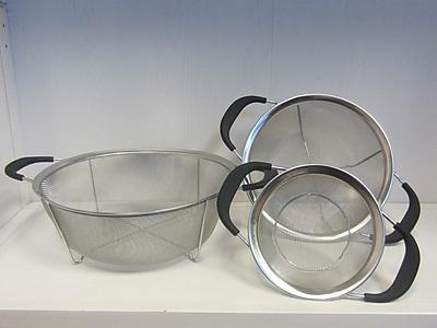 Cook Pro 3 Piece Stainless Steel Mesh Colander Set