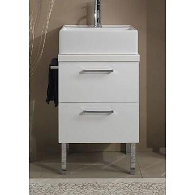 Iotti by Nameeks Aurora 19'' Single Bathroom Vanity Top; Gray Oak