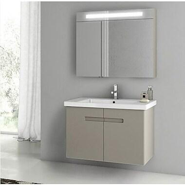 ACF New York 24.4'' Single Bathroom Vanity Set; Matt Canapa
