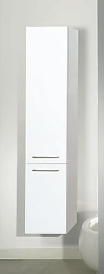 Iotti by Nameeks New Day Tall Storage Accent cabinet; Glossy White
