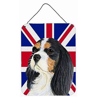 Cavalier Spaniel w/ English Union Jack British Flag by Lyn Cook Graphic Art Plaque