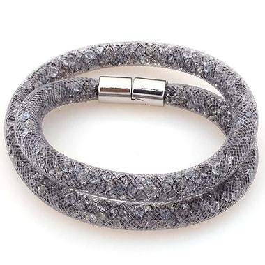 Best Desu Sparkling Crystals Stardust Bracelet, Gray