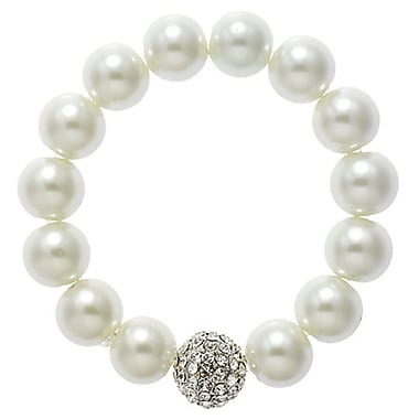 Best Desu Swarovski Elements Crystal Pearl Bracelet, White