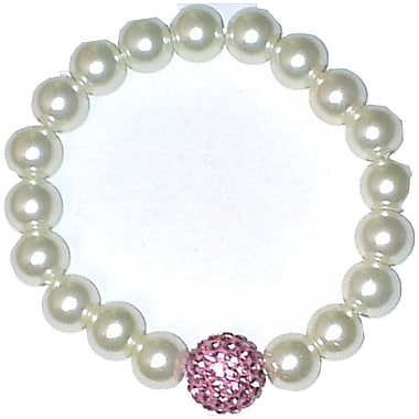Best Desu Swarovski Elements Crystal Pearl Bracelet, Pink