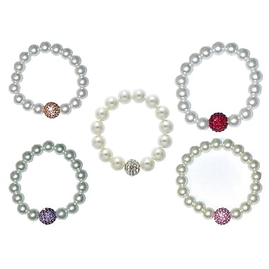 Best Desu Swarovski Elements Crystal Pearl Bracelet Set, 5 Pieces