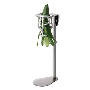 Tellier – Éplucheur de légumes sur support vertical en acier inoxydable, petite carotte