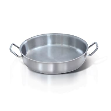 Homichef Stainless Steel Shallow Saute Pan with Handle, 11.75