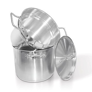 Homichef Stainless Steel Double Boiler with Cover, 9.5