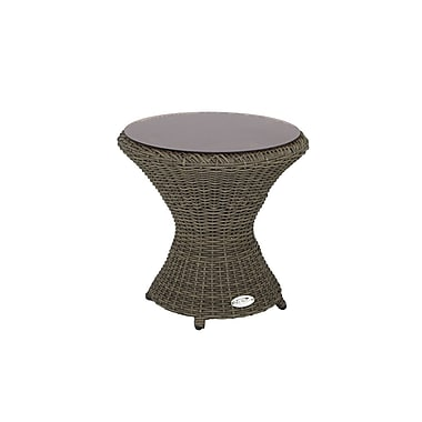 Patio Heaven Rosarita End Table; Palisades Grey