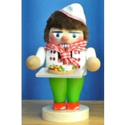 PinnaclePeak Steinbach Signed Troll Pizza Baker German Wood Christmas Nutcracker