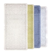 Home Basics Rubber Grass Bath Mat; Clear