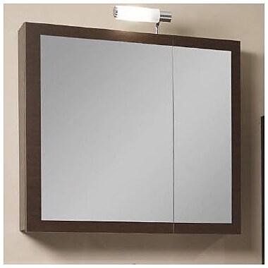 Iotti by Nameeks Luna 30.9'' x 27.7'' Surface Mounted Medicine Cabinet; Gray Oak