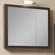 Iotti by Nameeks Luna 30.9'' x 27.7'' Surface Mounted Medicine Cabinet w/ Lighting; Gray Oak