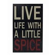 Cheungs Live Life Kitchen Textual Art