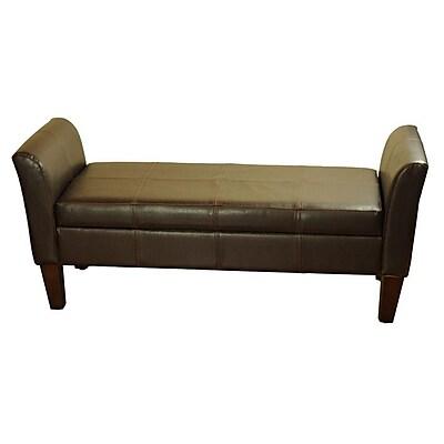 HomePop Two Seat Bench w/ Storage