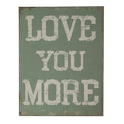 Cheungs Love You More Textual Art on Canvas