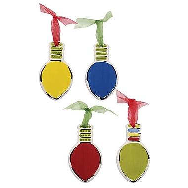 Thompson and Elm 4 Piece M.Bagwell Light Bulb Ornament Set
