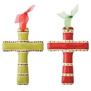 Thompson and Elm M.Bagwell 2 Piece Cross Ribbon Set (Set of 2)