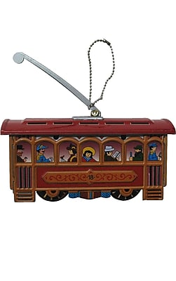 Alexander Taron Collectible Cablecar Tin Ornament