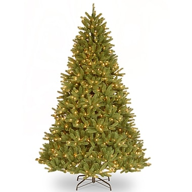 National Tree Co. 9' Green Fir Artificial Christmas Tree w/ 900 Clear Lights and Stand