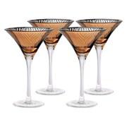 Artland Zebra 8 Oz. Martini Glass (Set of 4); Gold