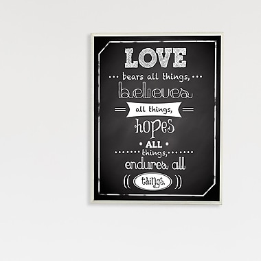 Stupell Industries Love Bears All Typography Wall Plaque