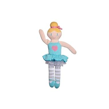 Zubels – Poupée tricotée à la main, ballerine Zoé, ZOE14, 14 po, bleu