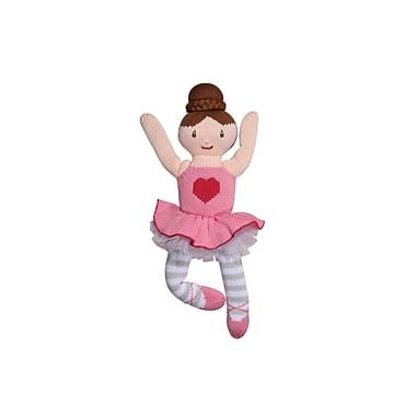 Zubels – Poupée tricotée à la main, EVA14, Eva la ballerine, 14 po