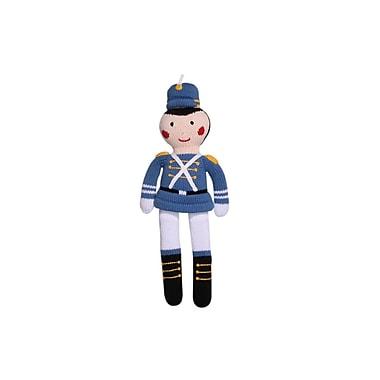 Zubels – Poupée tricotée à la main, soldat, SOL14BL, 14 po, bleu