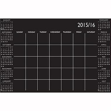 Wall Pops Dry Erase Academic Calendar, Aug-July, Black &White