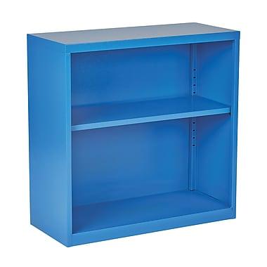OSP Designs – Bibliothèque en métal HPBC-7 de 28 po, bleu