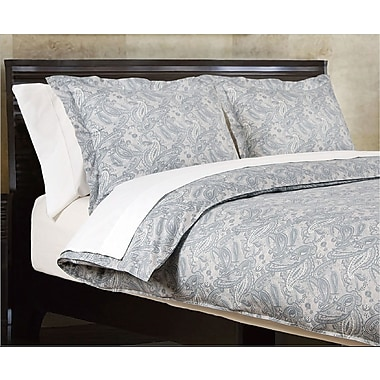 Highland Feather – Ensemble de housse de couette Grey Paisley, grand lit